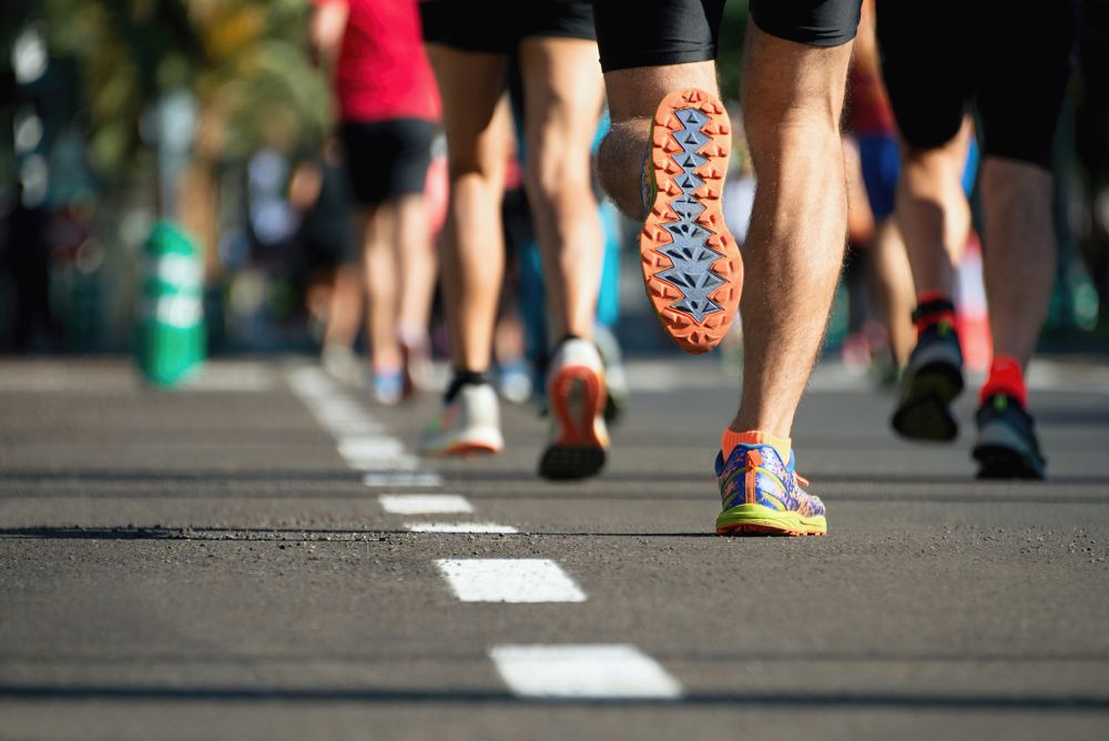 The scientists examined the participants before training and after they had completed the 42km event to see if successfully taking on a marathon had affected their levels of arterial stiffening. — AFP pic