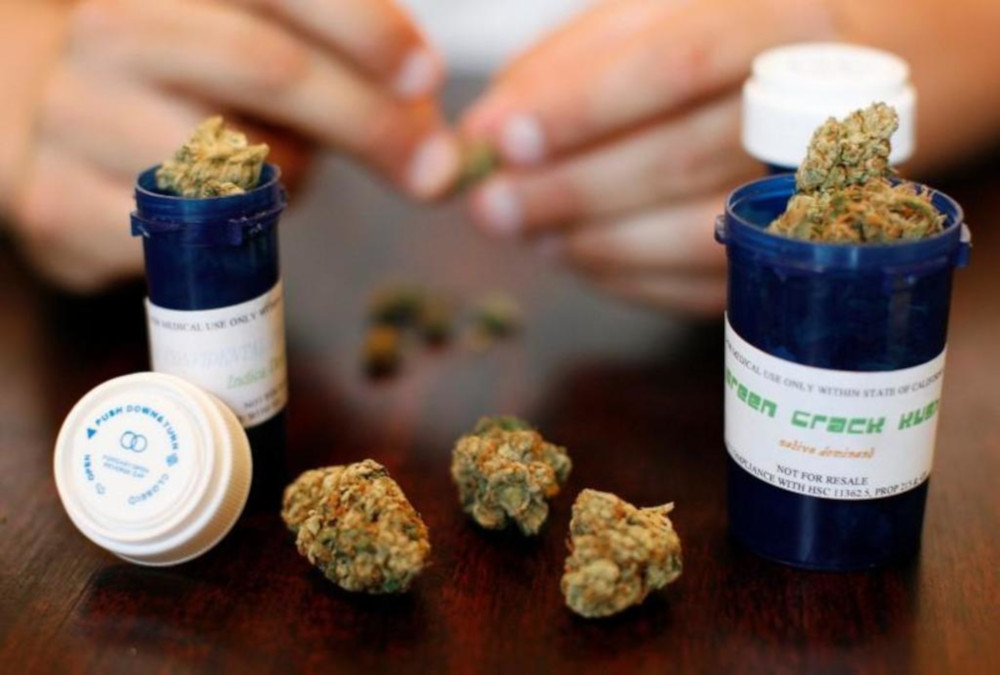 Medical marijuana is displayed in Los Angeles, California. — Reuters file pic