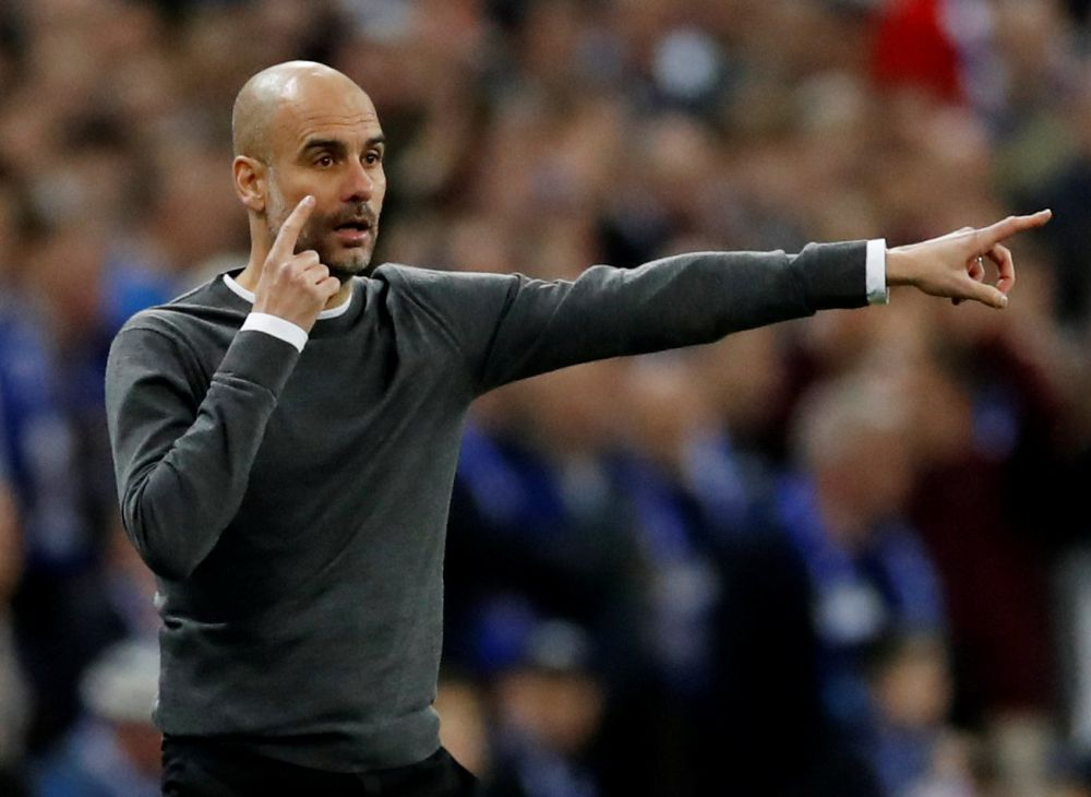 Manchester City manager Pep Guardiola gestures during the match against Chelsea, February 24, 2019. ― Reuters pic