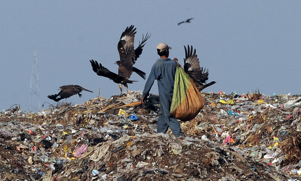An estimated four per cent of the total municipal solid waste in Malaysia comes from textile waste. — AFP pic