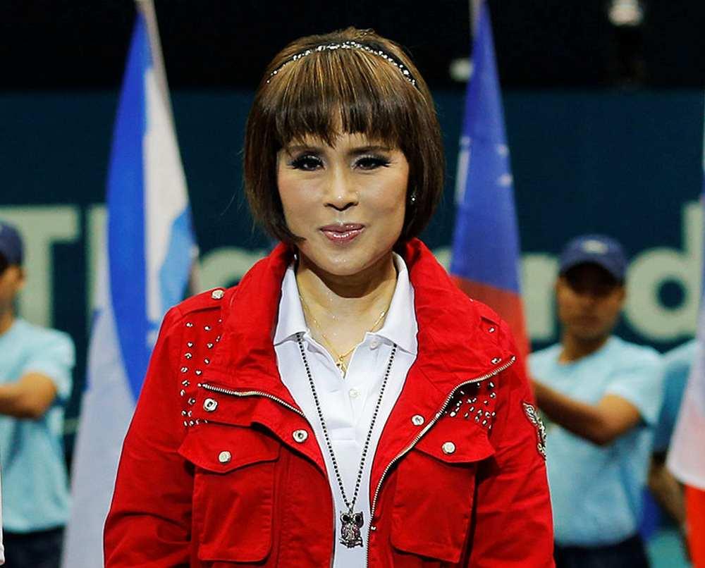 Thai Princess Ubolratana Rajakanya is seen after the men's singles final match at the Thailand Open tennis tournament in Bangkok September 29, 2013. — Reuters pic