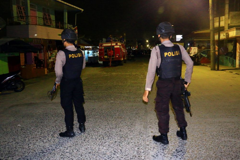 Many of the terrorist attacks in Indonesia have targeted police. — Antara Foto/Jason Gultom pic via Reuters