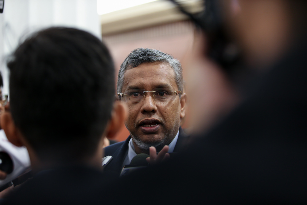 Hanipa said the government is also simultaneously reviewing the Whistleblower Protection Act 2010 and the Witness Protection Act 2009 in its efforts to improve transparency. — Picture by Ahmad Zamzahuri