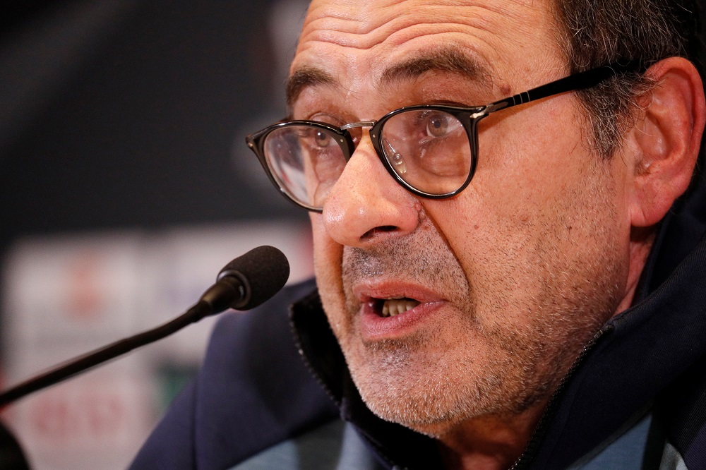 Sarri missed Juventus' home game against Napoli with pneumonia in August and tomorrow's game at the Stadio San Paolo will be his first since leaving the club in 2018 before his move to Chelsea. — Reuters pic