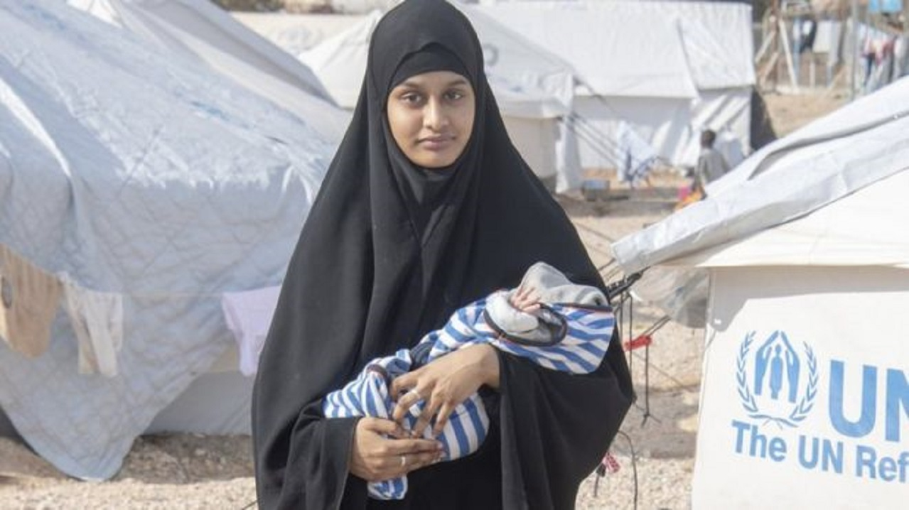File picture with Shamima Begum with her newborn son in a northern Syria refugee camp. — Reuters pic