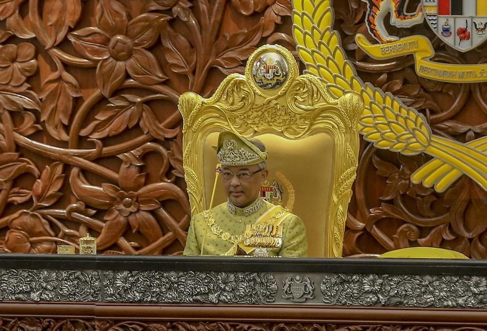 The Cabinet meeting was held after Dr Mahathir's audience with Yang di-Pertuan Agong, Al-Sultan Abdullah Ri'ayatuddin Al-Mustafa Billah Shah. — Picture by Firdaus Latif
