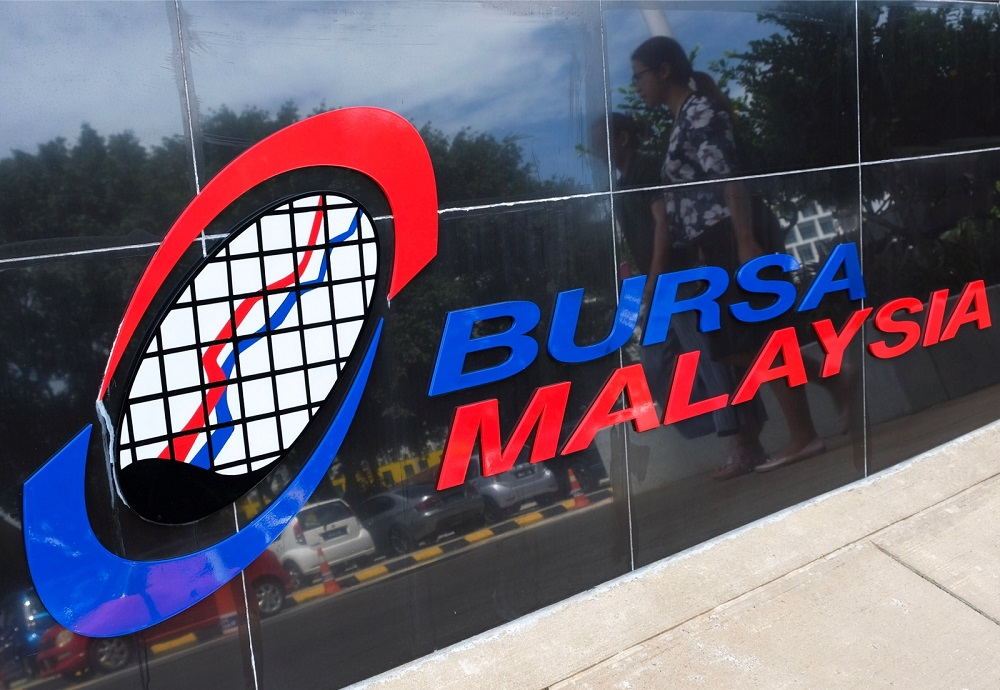 At 12.30pm, the benchmark FTSE Bursa Malaysia KLCI (FBM KLCI) was 2.40 points lower at 1,568.75 from last Friday's close of 1,571.15. — Bernama pic