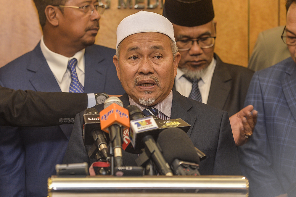 Tuan Ibrahim said Haziq should face legal action after the latter's confession. — Picture by Miera Zulyana