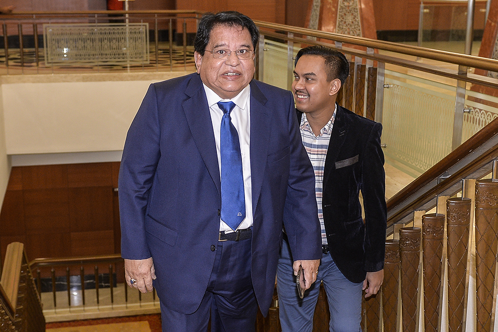 Datuk Seri Tengku Adnan Tengku Mansor's trial on a charge of receiving a RM2 million bribe from businessman Chai Kin Kong will begin at the High Court in Kuala Lumpur tomorrow. — Picture by Miera Zulyana