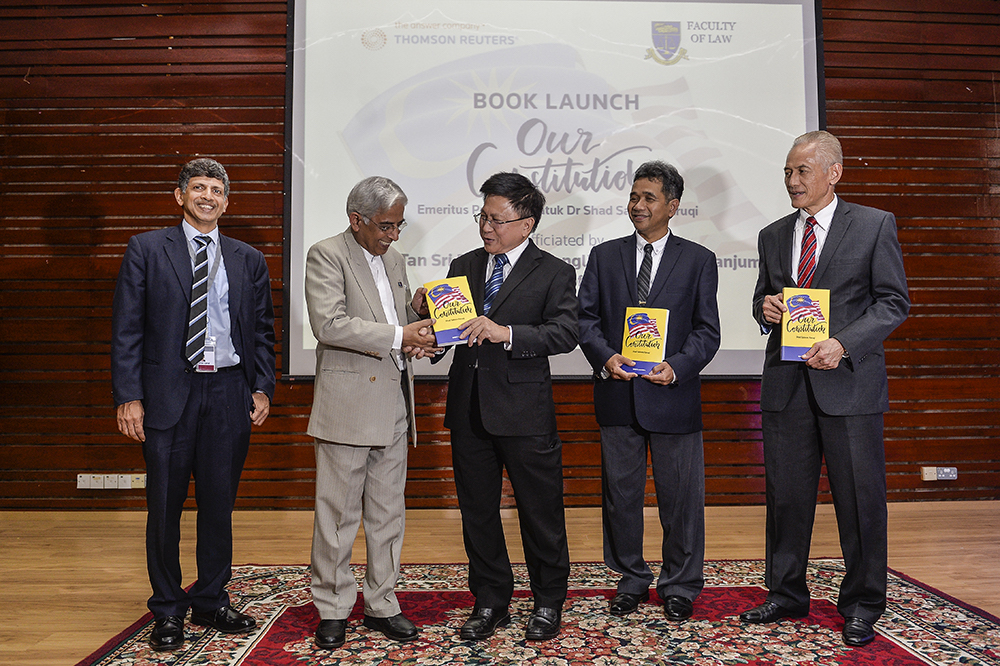 Caption: Malanjum and constitutional law expert Datuk Shad Saleem Faruqi at the launch of the latter's book 'Our Constitution'. March 20, 2019. — Picture by Miera Zulyana