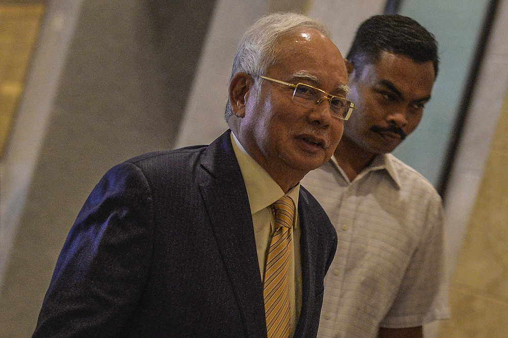 Datuk Seri Najib Razak had admitted that he did not verify the source of the RM2.6 billion that ended up in his bank account, which had allegedly been siphoned from 1Malaysia Development Bhd. — Picture by Miera Zulyana