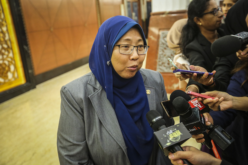 Kuantan MP Fuziah Salleh had long opposed the Lynas operations in her constituency. — Picture by Firdaus Latif