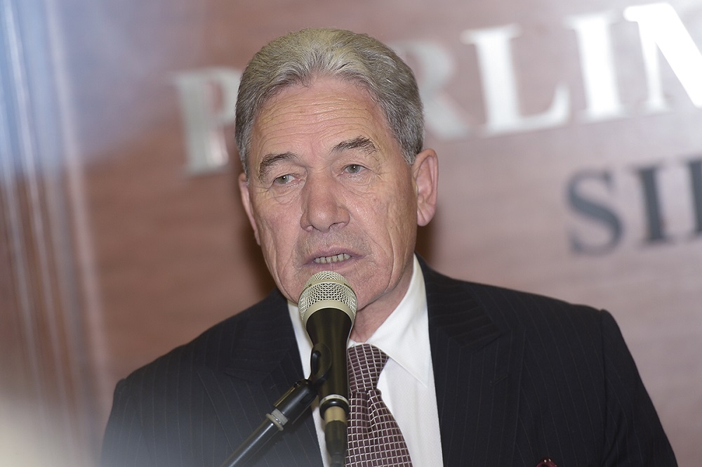 New Zealand's deputy prime minister Winston Peters speaks during a press conference at Parliament in Kuala Lumpur March 27, 2019. — Picture by Mukhriz Hazim