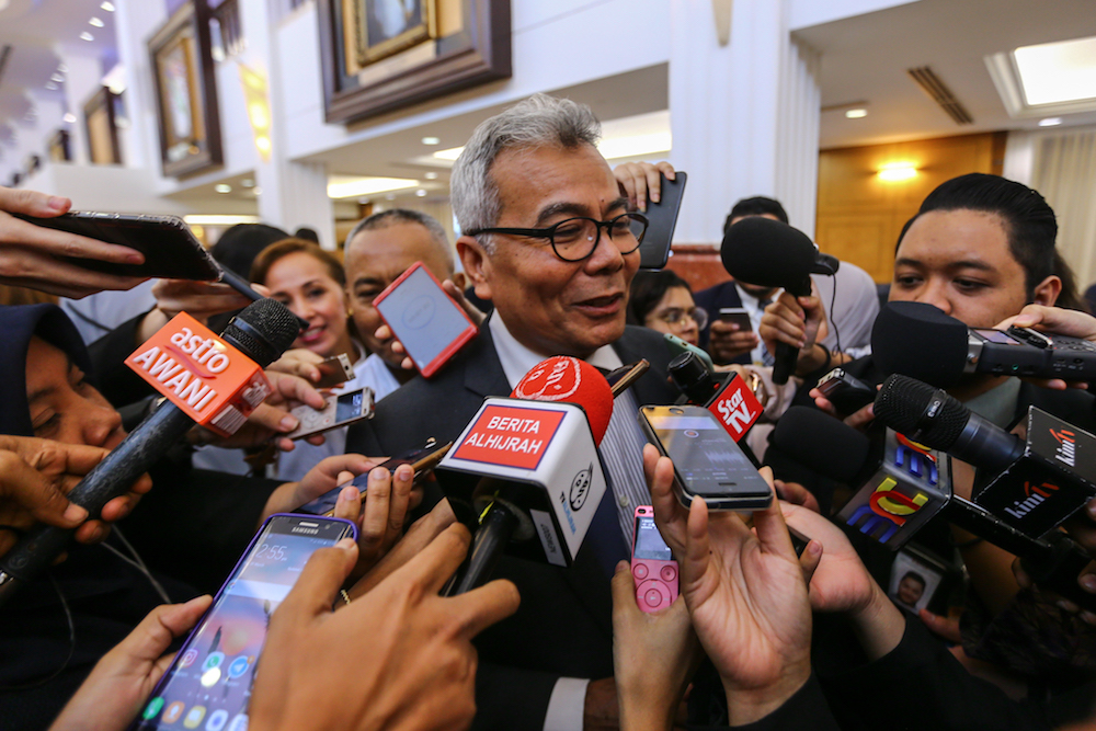 Datuk Seri Mohd Redzuan Md Yusof said the government is currently in the final phase of deciding the strategic partner for the third national car project. — Picture by Hari Anggara