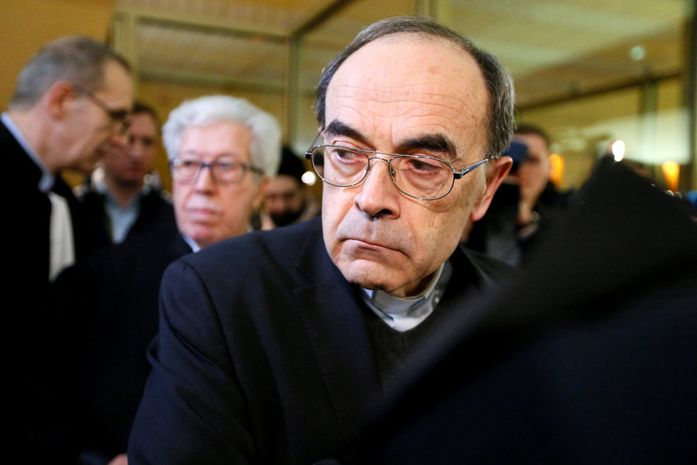 Cardinal Philippe Barbarin, Archbishop of Lyon, arrives to attend his trial at the courthouse in Lyon, France, January 7, 2019. — Reuters pic