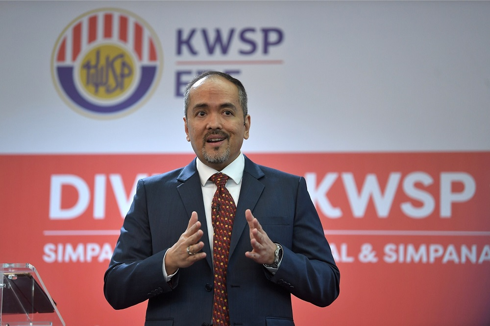 Employees Provident Fund CEO Tunku Alizakri Alias speaks during a press conference about EPF Financial Performance 2018 at EPF headquarters in Kuala Lumpur February 18, 2019. — Bernama pic