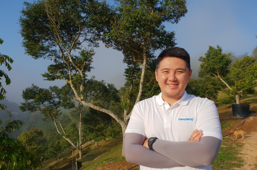 Newleaf Plantation Berhad managing director Kenny Wan is confident Malaysia can garner a greater share of the durian export market to China within the next few years. — Newleaf Plantation Berhad pic