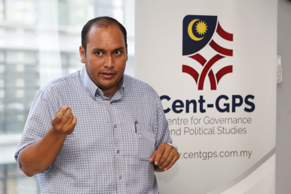 Cent-GPS researcher Zaidel Baharuddin speaks about the result of a recent survey entitled 'Racism in Recruitment: Racial Bias For Entry Level Jobs' March 7, 2019. — Picture by Choo Choy May