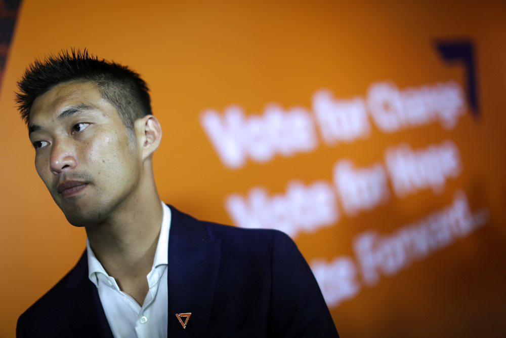 Thanathorn Juangroongruangkit, leader of the Future Forward Party, looks on after a news conference at his party headquarters in Bangkok, Thailand, March 25, 2019. — Reuters pic