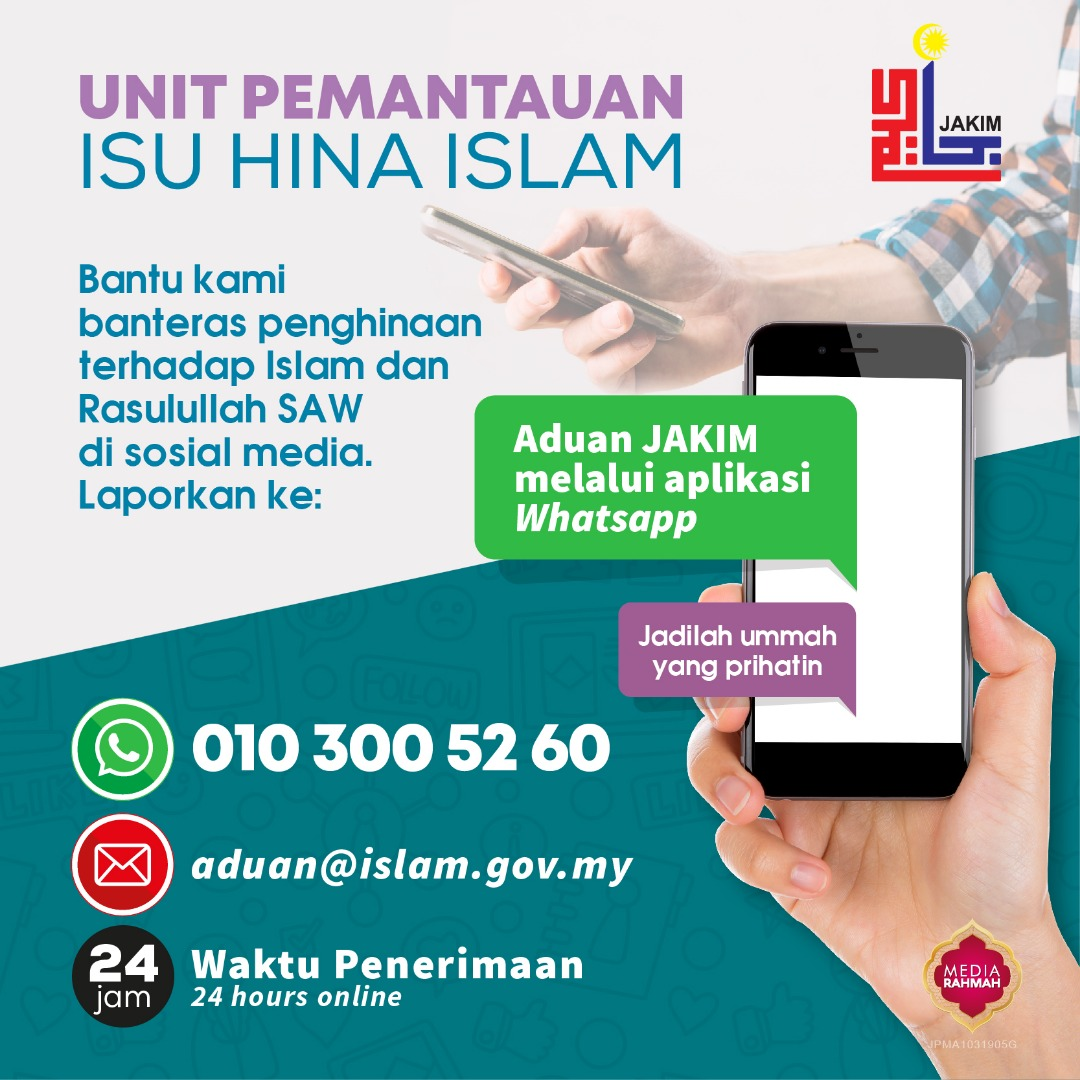 Jakim will monitor any writing or provocation deemed insulting to the Prophet and Islam across all media platforms. — Picture via Jakim