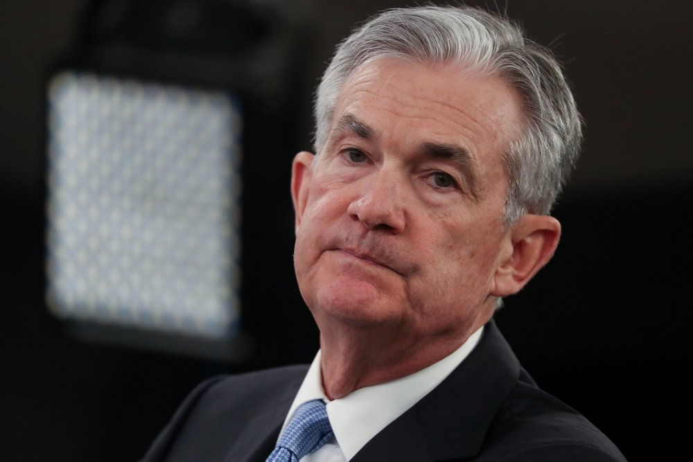 US Federal Reserve Chairman Jerome Powell speaks during a news conference following the two-day Federal Open Market Committee (FOMC) policy meeting in Washington March 20, 2019. — Reuters pic