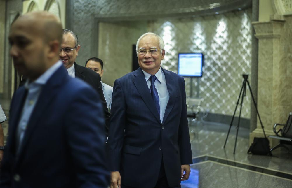 Datuk Seri Najib Razak arrives at the Palace of Justice in Putrajaya March 18, 2019.  ― Pictures by Firdaus Latif