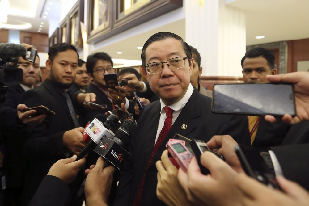 Finance Minister Lim Guan Eng Lim said Najib has not answered any of the questions regarding the direct tender process that the latter initiated during his time in office to sell the building. — Picture by Yusof Mat Isa