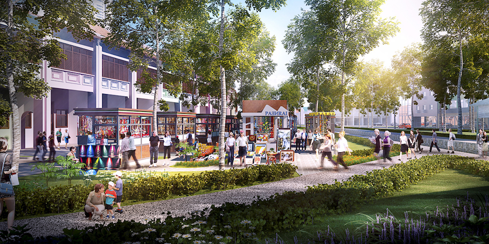 Artist's impression of the completed Sia Boey project. — Courtesy of BYG Architecture
