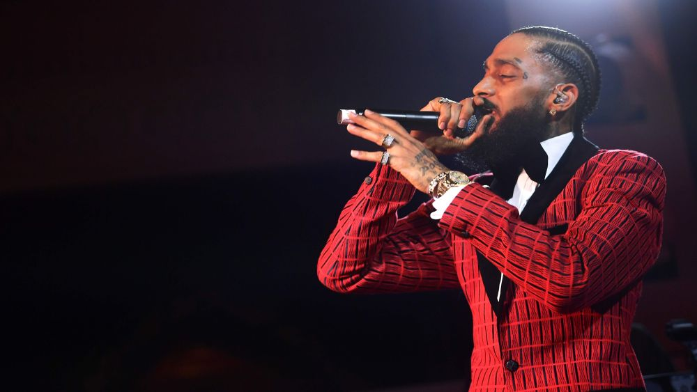 In this file photo taken February 7, 2019 Nipsey Hussle performs onstage at the Warner Music Pre-Grammy Party at the NoMad Hotel in Los Angeles. — Matt Winkelmeyer/Getty Images North America pic via AFP
