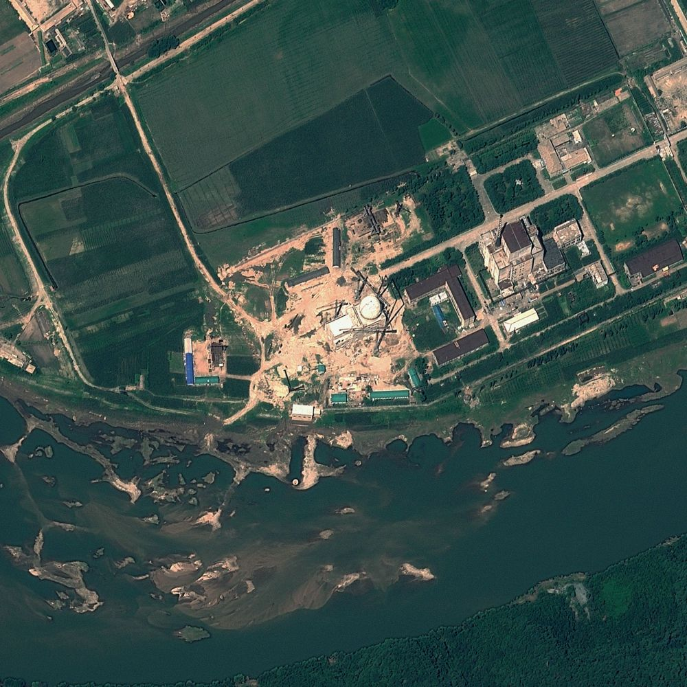 This satellite file image provided by GeoEye August 22, 2012 and taken August 6, 2012 shows the Yongbyon Nuclear Scientific Research Centre in North Korea. —GeoEye Image via AFP