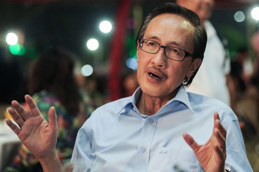 Datuk Masidi Manjun speaks during an interview at Likas Sports Complex in Kota Kinabalu September 14, 2017. — Picture by Mukhriz Hazim