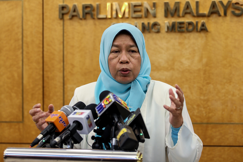 Minister Zuraida Kamaruddin said the construction of 100,000 units of affordable houses were targeted under the NAHP, with 13 projects involving 30,000 units were approved by the government this year. — Picture by Ahmad Zamzahuri