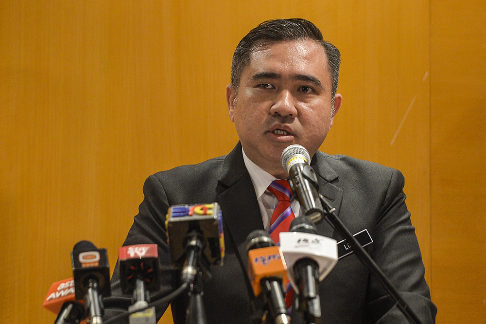 Transport Minister Anthony Loke said the investigation into the incident will be transparent and that the ministry will present the final report in 11 months' time. — Picture by Miera Zulyana