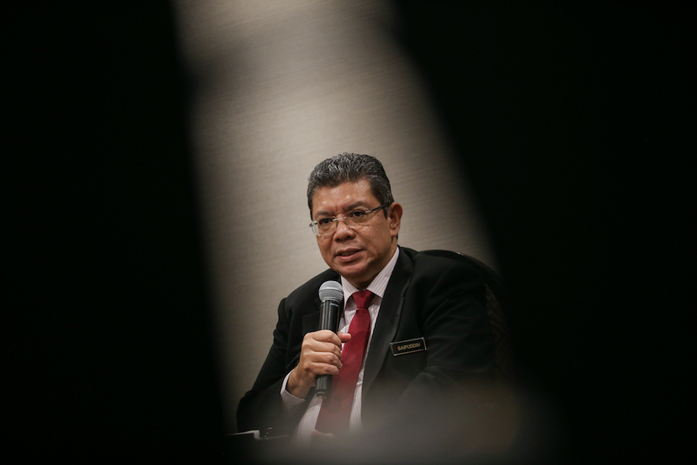 Datuk Saifuddin Abdullah said discussions on the laws relating to creative industries, including on royalty, copyright law, as well as entertainment tax, were held last week with the stake holders to provide the ministry with a 'big picture' of the situation. — Picture by Ahmad Zamzahuri