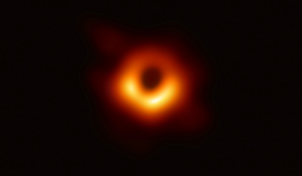 The first ever photo of a black hole, taken using a global network of telescopes is shown in this handout photo released April 10, 2019. — Event Horizon Telescope (EHT)/National Science Foundation/Handout via Reuters