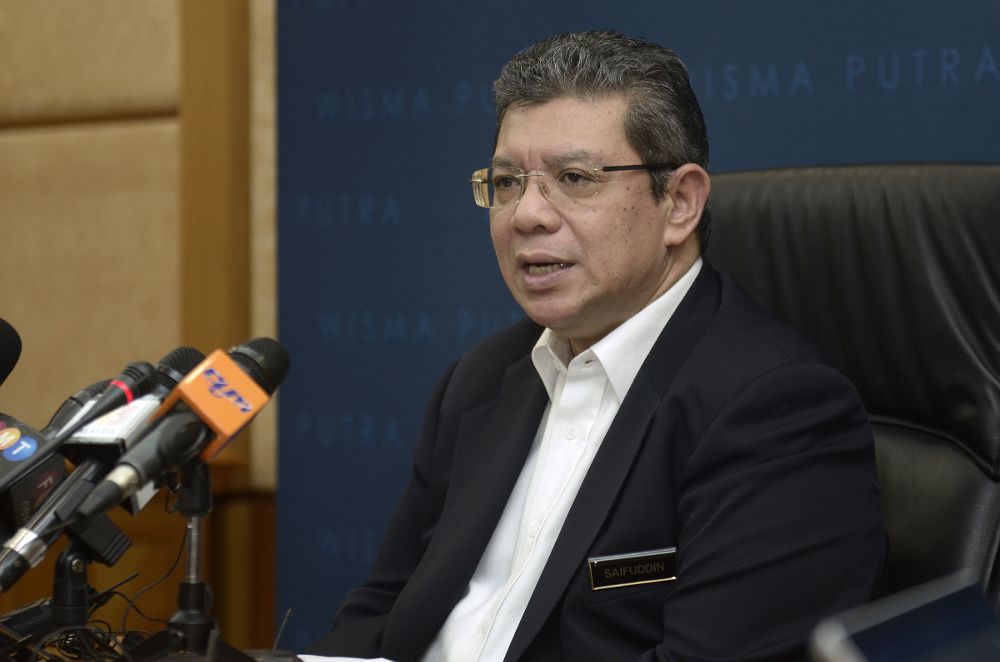 Minister of Communications and Multimedia Datuk Saifuddin Abdullah issued the directive on May 15. In the letter, the five service providers were to be given the licence with immediate effect. — Picture by Mukhriz Hazim