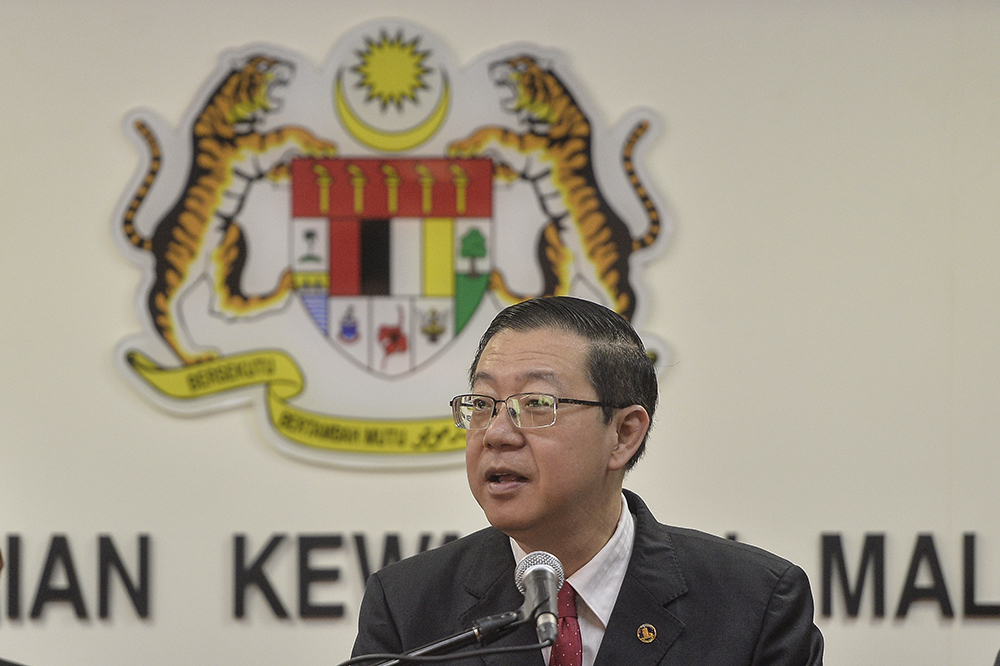 Lim Guan Eng said Tabung Harapan Malaysia's entire funds amounting to RM203.29 million will be used to settle a portion of 1MDB's 2019 debt amounting to RM1.7 billion. — Picture by Miera Zulyana