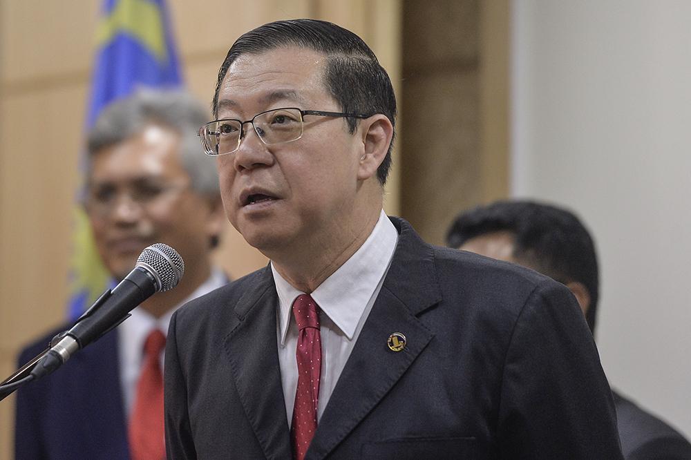 Lim Guan Eng addresses a press conference in Putrajaya April 23, 2019. — Picture by Miera Zulyana