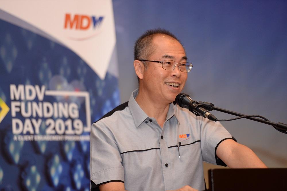 MDV chairman Datuk Seri Lee Kah Choon speaks at a MDV client engagement programme in Seberang Jaya April 24, 2019. — Pictures by Steven KE Ooi