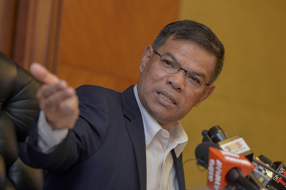 Domestic Trade and Consumer Affairs Minister Datuk Saifuddin Nasution Ismail said almost 70 per cent of Malaysians' monthly income are spent on goods, housing and transport. — Picture by Mukhriz Hazim