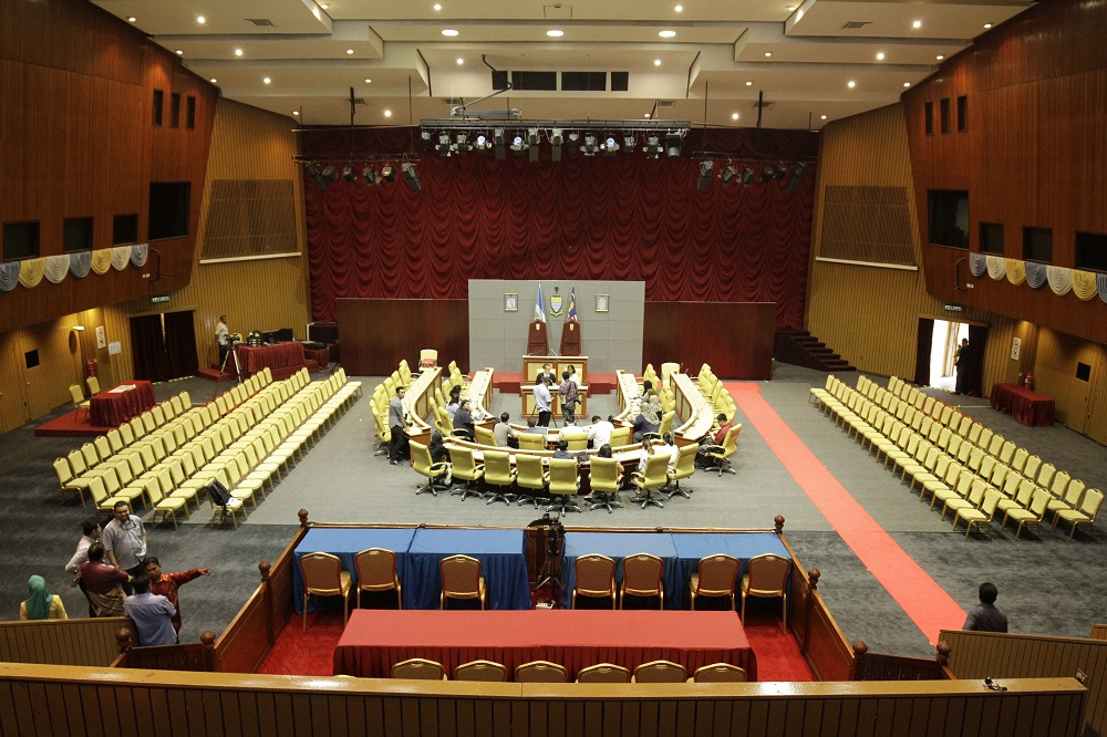 The Penang legislative assembly will be held at the Dewan Sri Pinang this year due to ongoing renovations at the Penang Legislative Assembly building in George Town April 25, 2019.