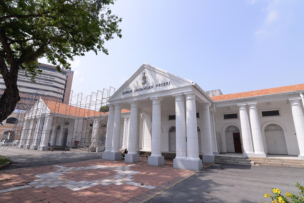 A general view of the Penang Legislative Assembly building in George Town April 25, 2019. — Picture by Steven KE Ooi