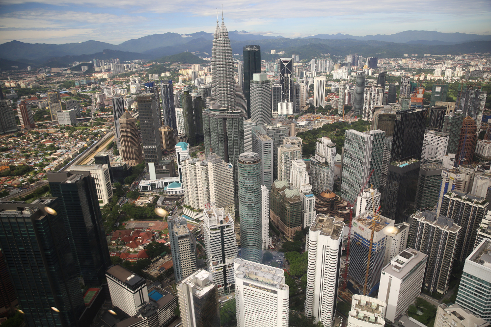 A bird's-eye view of Kuala Lumpur. According to the Department of Statistics Malaysia, Malaysia is moving towards a developed nation status. — Picture by Choo Choy May