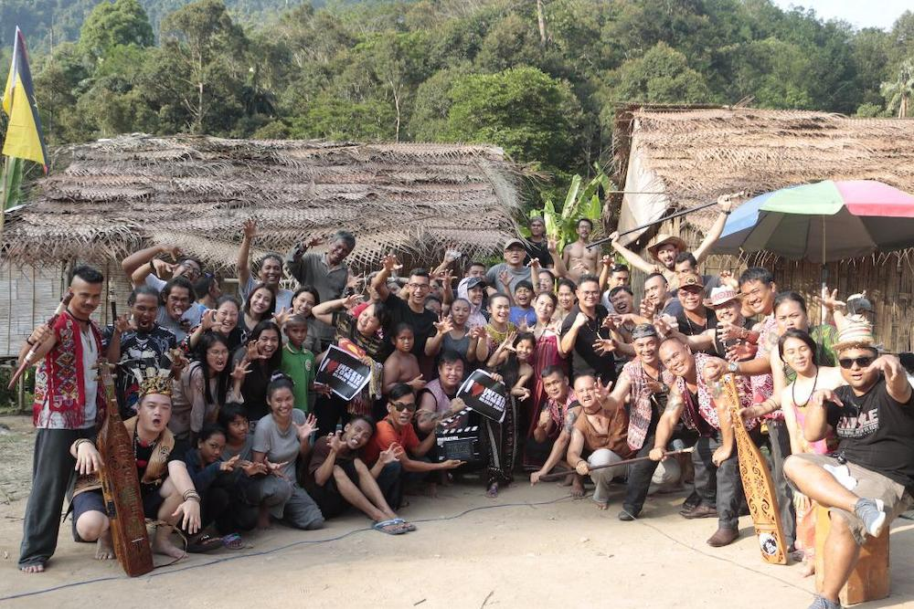 Part of the cast and crew of 'Belaban Hidup: Infeksi Zombie'. — Picture courtesy of Ray Lee