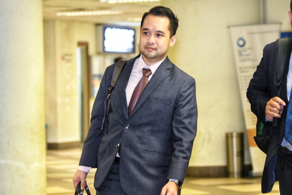 Bank Negara Malaysia manager Ahmad Farhan Sharifuddin is seen at the Kuala Lumpur Courts Complex April 17, 2019. ― Picture by Shafwan Zaidon