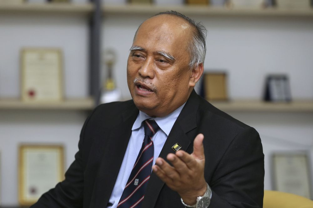 MNCC president Professor Ahmad Zaki Abu Bakar speaks to 'Malay Mail' during an interview in Petaling Jaya April 16, 2019. — Picture by Yusof Mat Isa