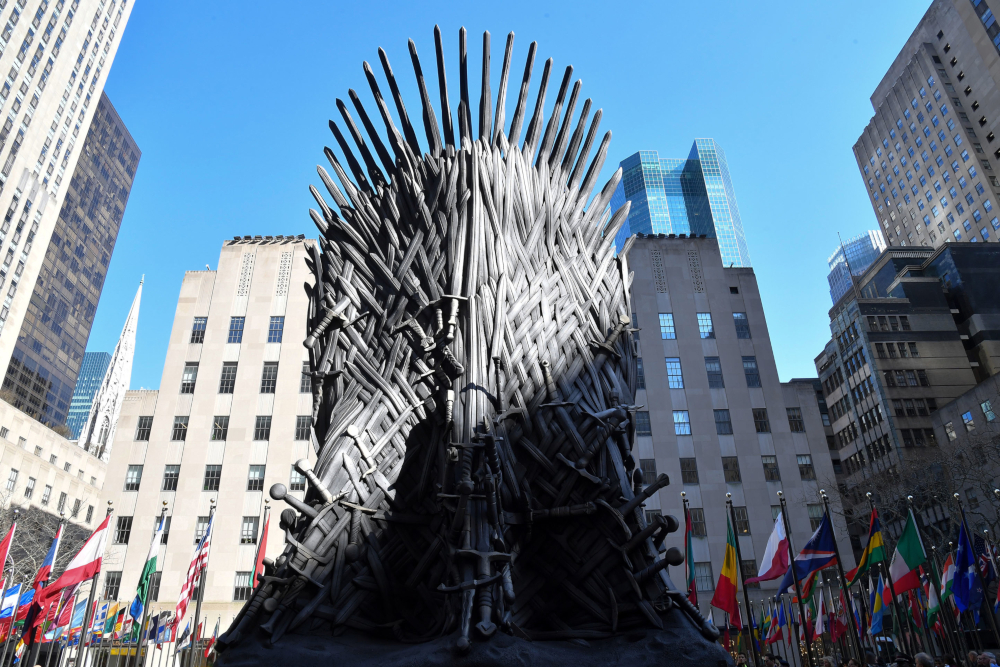 Game of Thrones, based on novels by George RR Martin, became a global phenomenon and won 12 Emmy awards, including the top prize of best drama series. — AFP pic