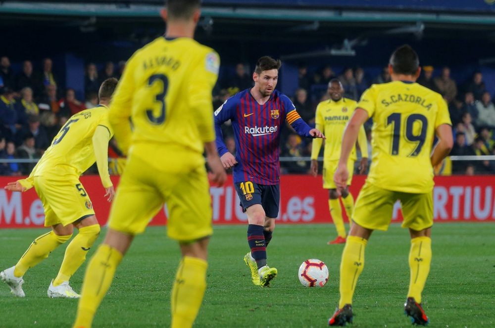 Barcelona's Lionel Messi in action during their La Liga match vs Villarreal in Estadio de la Ceramica, Villarreal, Spain, April 2, 2019. — Reuters pic
