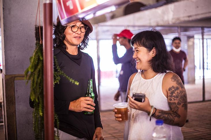 Leong with one of REXKL's advisors, landscape architect Ng Sek San.