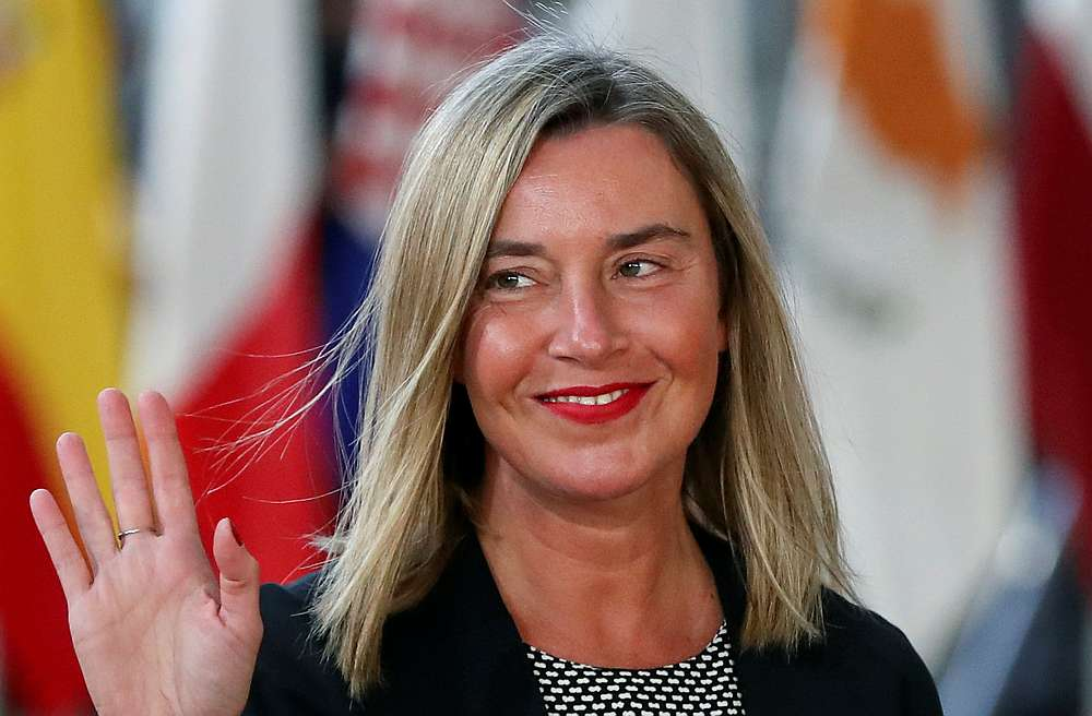 Mogherini called for the men to be released immediately, and for the human rights of LGBT persons to be guaranteed and protected according to Malaysia's international obligations. — Reuters pic